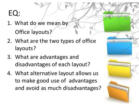 warehouse layout advantages and disadvantages office layouts powerpoint