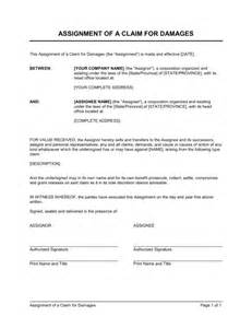 assignment of claims agreement
