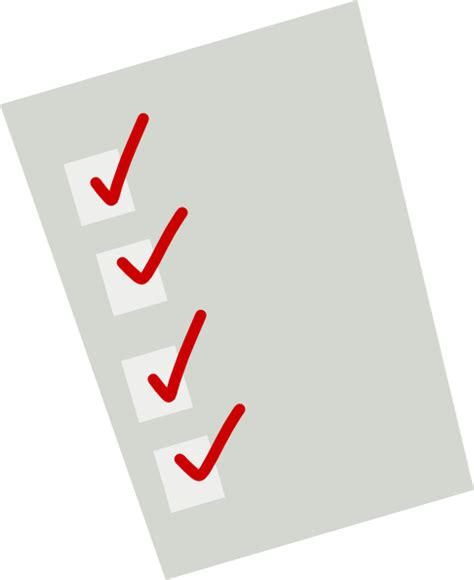 Animated List - checklist clip at clker vector clip