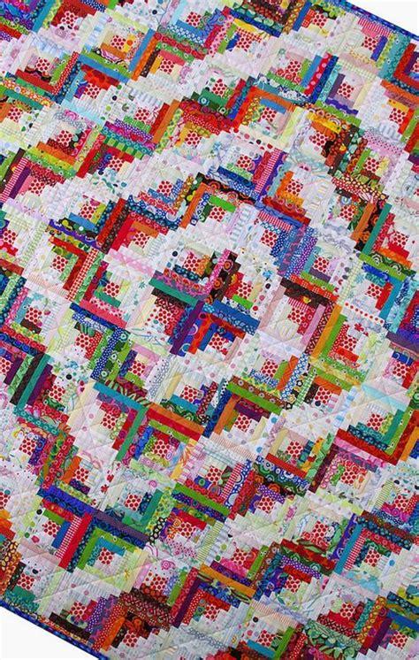Log Cabin Patchwork Quilt - 166 best scrap quilts images on
