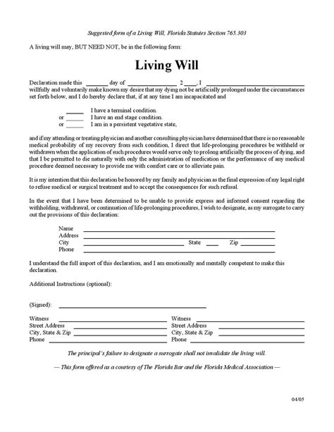 living will and testament template florida living will by wfla newschannel8 issuu