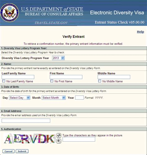 forgot confirmation number dv  lottery home
