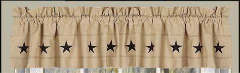 primitive shower curtain clearance danville star valance primitive prim country rustic black
