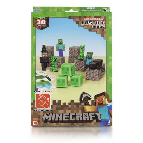 Minecraft Papercraft Sets - minecraft papercraft 30 set hostile pack toys
