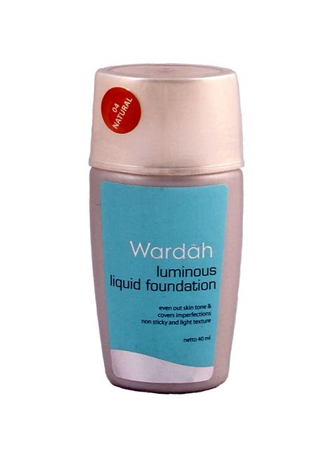 Ready Wardah Luminous Liquid Foundation 1 wardah luminous liquid foundation 04 btl 40ml klikindomaret