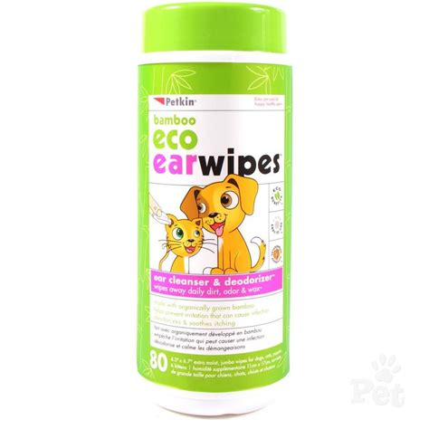 ear wipes petkin bamboo eco ear wipes