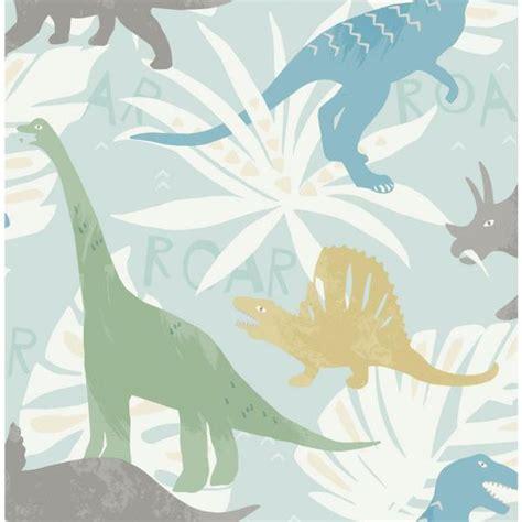 wallquest kids pack party green blue  yellow dinosaur wallpaper fa  home depot