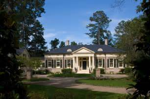Luxury One Story House Plans Georgia Greek Revival Traditional Exterior By