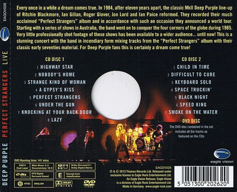 deep purple plays perfect strangers live in japan deep purple perfect strangers live 2 cd 2013