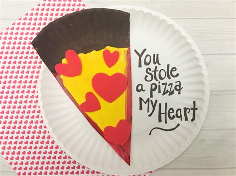 pizza valentines card template s day pizza paper plate craft for tutorial