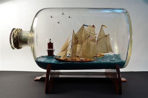 boat in a bottle square riggers tall ships s g ships in bottles