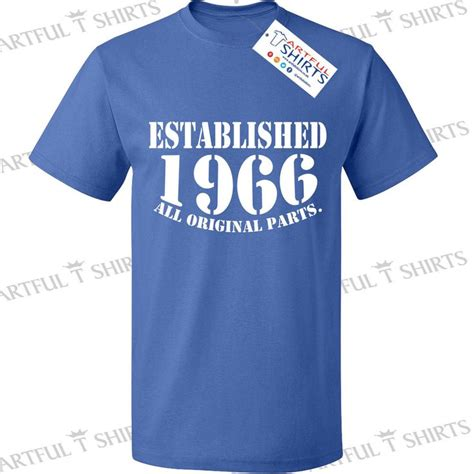 Custom Shirts For Him And Details About 50th Birthday Established 1966 T Shirt Gifts