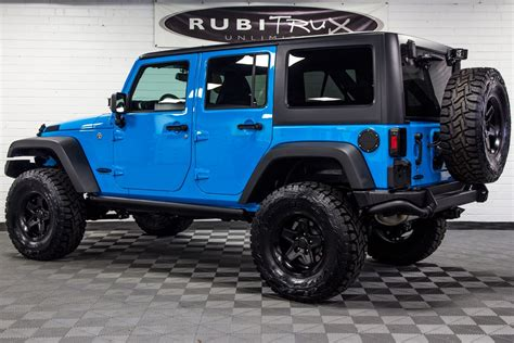 jeep rubicon 2017 2017 jeep wrangler rubicon unlimited chief blue vehicles
