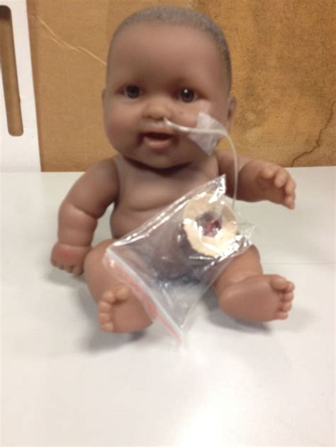 Play Baby Healt play teaching about a ng and stoma used tubing ziplock bag balloon