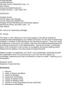 Advertising Manager Cover Letter by Update 7926 Advertising Cover Letter Exles 36 Documents Bizdoska