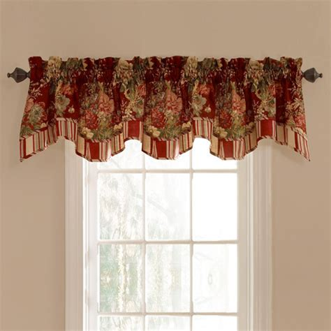 Waverly Valances For Windows waverly ballad bouquet lined window valance decor