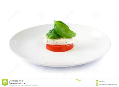 tiny petite small salad stock photo image of healthy caprese leaf