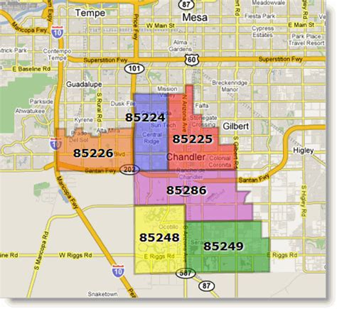 Zip Code Map Chandler Az | chandler mortgage rates and information arizona mortgage