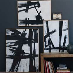 Ballard Designs Sofa black and white abstract art anyone can paint