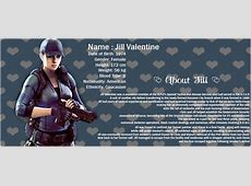 - Jill Valentine Biography - by Jill-Lovers on DeviantArt Jill Valentine Age