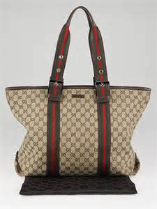 Gucci Strike Large Tote by Gucci Beige Gg Canvas Vintage Web Stripe Large Tote