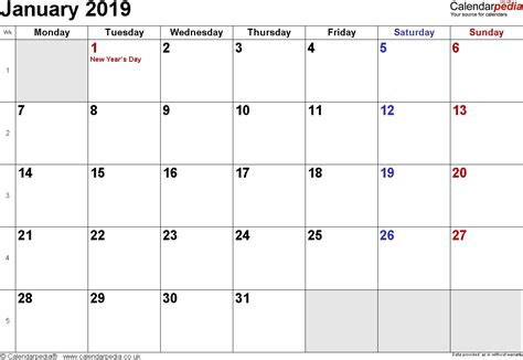 january  calendar templates landscape qualads