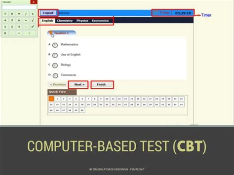Computer Based Test Cbt computer based test cbt by simeon ayoade adedokun