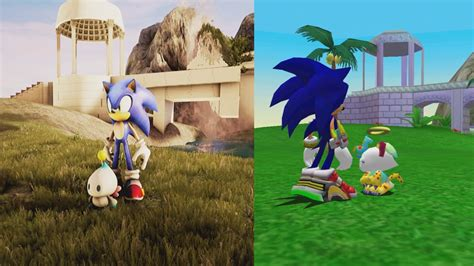 Sonic Chao Garden by Engine 4 Sonic Adventure 2 Chao Garden Fanmade Comparison