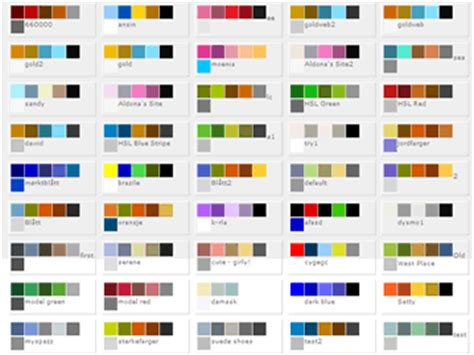 color matching image gallery matching colors
