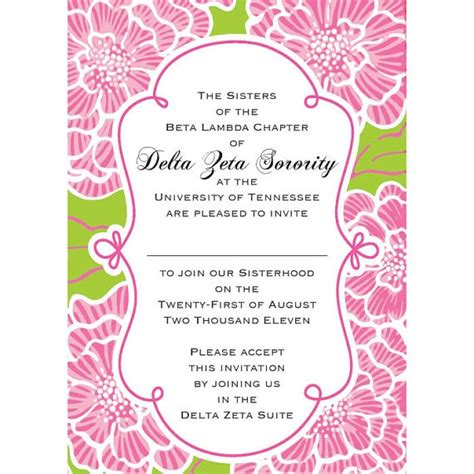 bid day card sorority recruitment template 19 best images about sorority ideas on