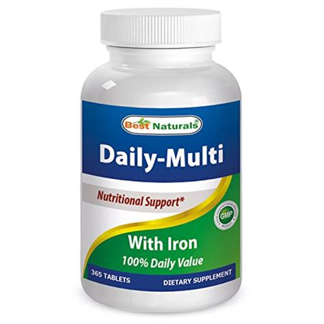 vitamin w iron tb 365 best naturals daily multivitamins with iron 365 tablets