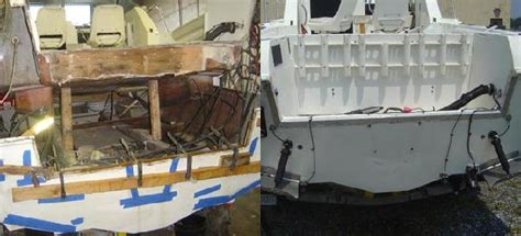 how to repair fibreglass boat transom cosmetic fiberglass boat repairs fiberglass repairs