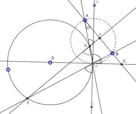 construction of circle diagram an euclidean construction with inversion