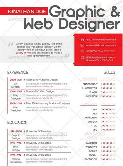 graphic design cv website 228 best creative cv ideas and placement advice images on