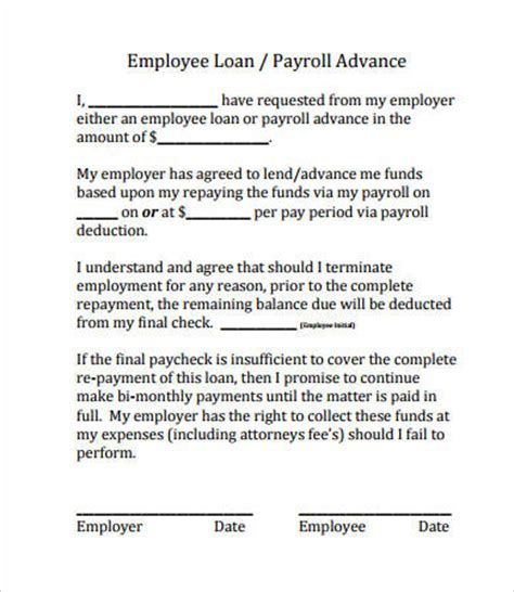 Employee Loan Agreement Letter Uk Simple Loan Agreement 8 Free Pdf Word Documents Free Premium Templates