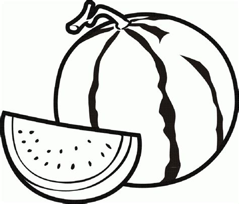 watermelon coloring page watermelon clipart colouring page pencil and in color