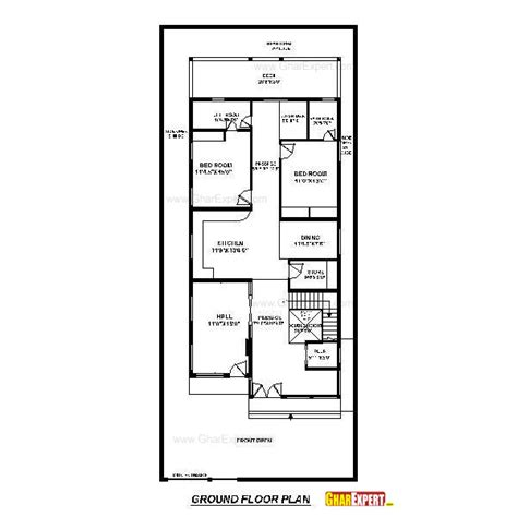 80 yard home design house plan for50 feet by 80 feet plot plot size 444