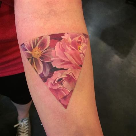 pink triangle tattoo 178 likes 11 comments esther arocha arochatattoo on