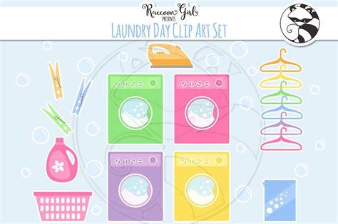 Laundry Clip laundry day clip set illustrations creative market