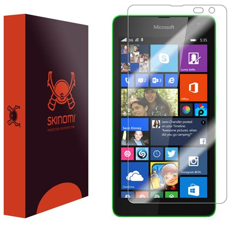 anti virus security microsoft lumia 535 skinomi techskin microsoft lumia 535 screen protector