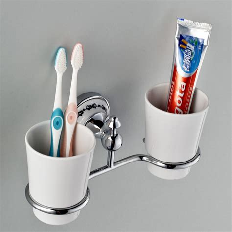 Bathroom Toothbrush Storage Vintage Wall Mounted Toothbrush Tumbler Holder Holders In Chrome A208 Wholesale Faucet E