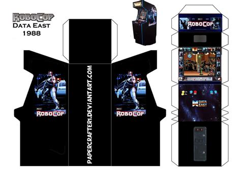 robocop papercraft arcade template by papercrafter1 on