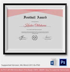 Certificate Illustrator Template by 10 Football Certificate Templates Free Word Pdf