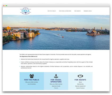 charter boat agents association the design web portfolio tags corporates industry bodies