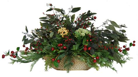 christmas silk floral centerpiece contemporary