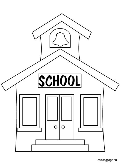 coloring page school building back to school school house coloring page