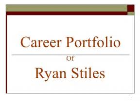 career portfolio template sle of autobiography for applying a new calendar