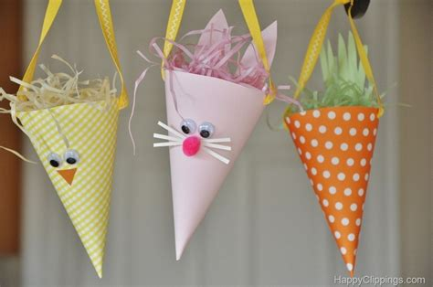 Cone Paper Craft - 51 easter crafts for