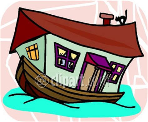 cartoon images of houseboat clip art of a house boat cliparts