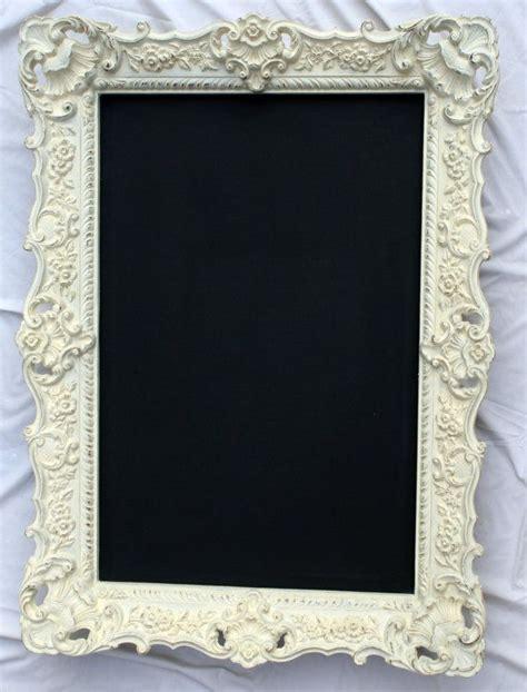 Decorative Framed Chalkboards by Large Ornate White Framed Chalkboard Vintage Rustic